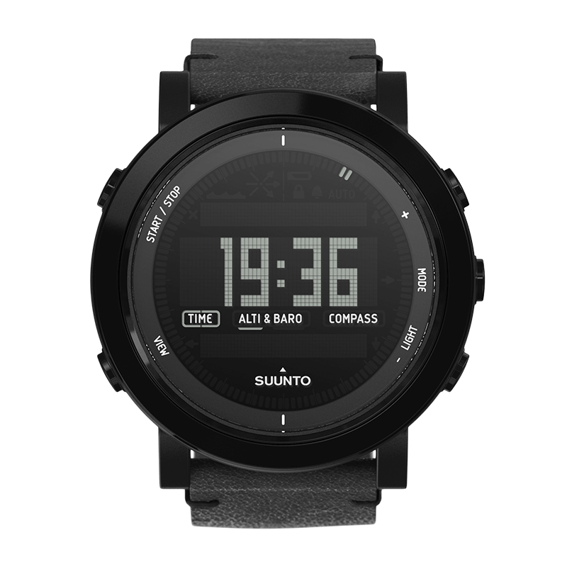 Transparent ceramic sapphire. Suunto essential all black