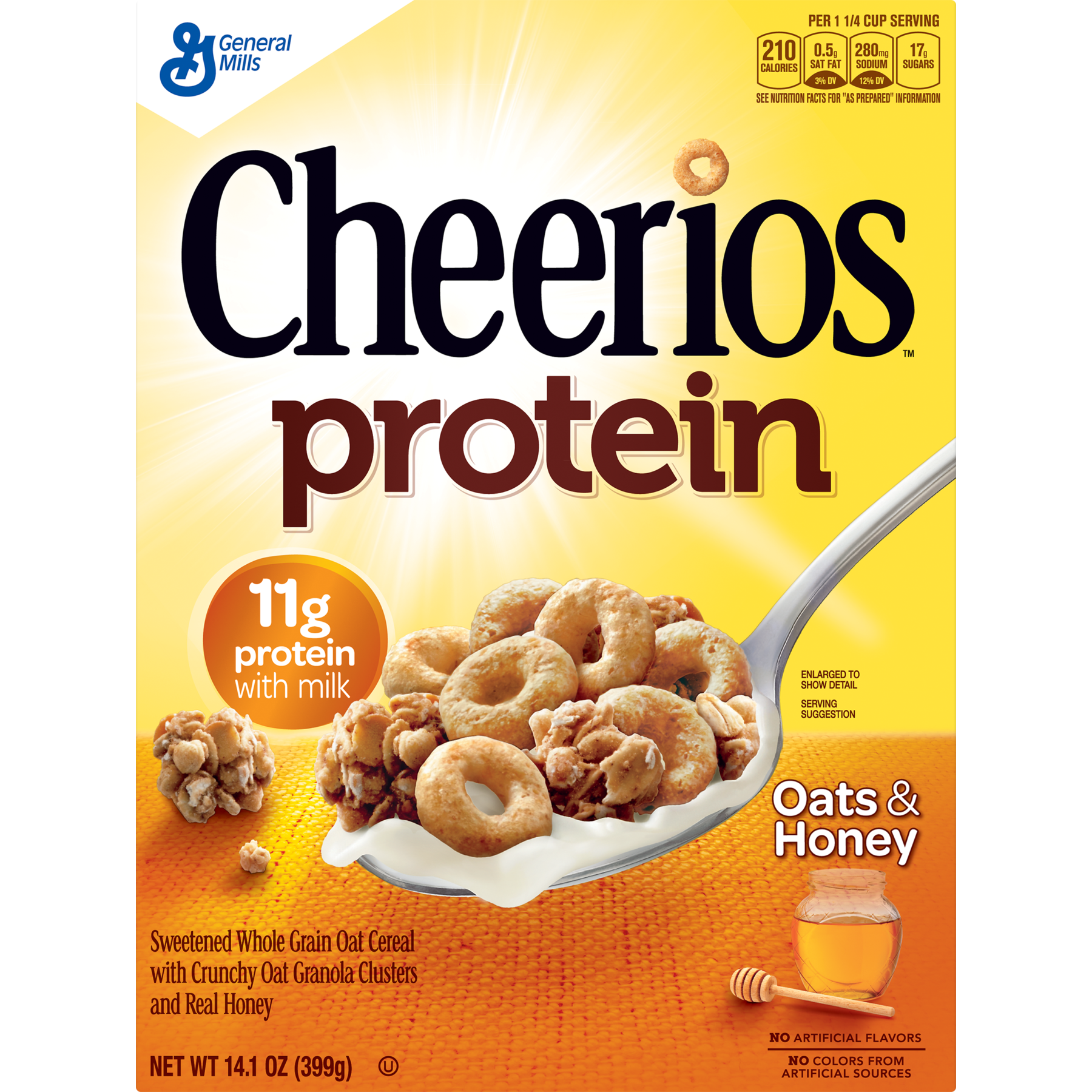 Transparent cereal bland. Cheerios protein oats and