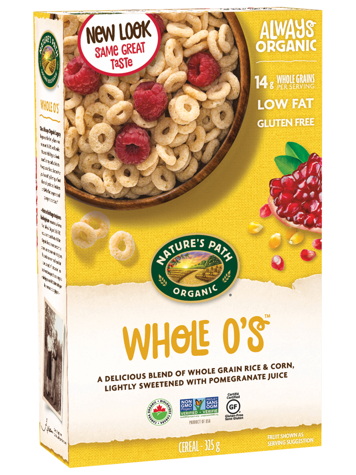 Transparent cereal bland. Whole o s nature