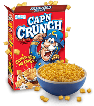 Transparent cereal captain crunch. Cap n contact us