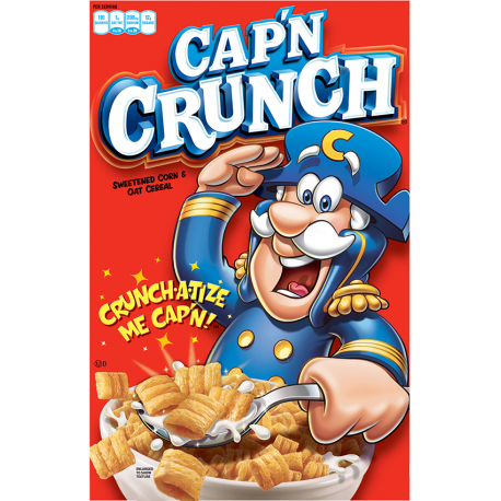 Transparent cereal captain crunch. Cap n g the