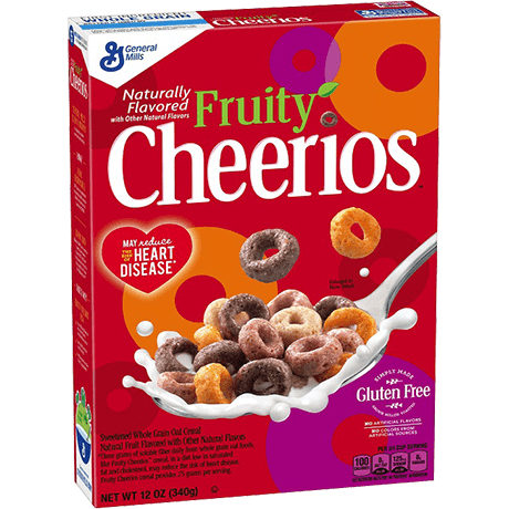 Transparent cereal cheerios. Fruity gluten free oat