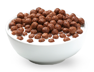 Transparent cereal chocolate. Choose your top best