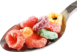 Transparent cereal coloured. Naturally colored extruded sensient