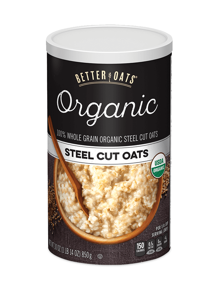 Transparent cereal cup. Home better oats organic