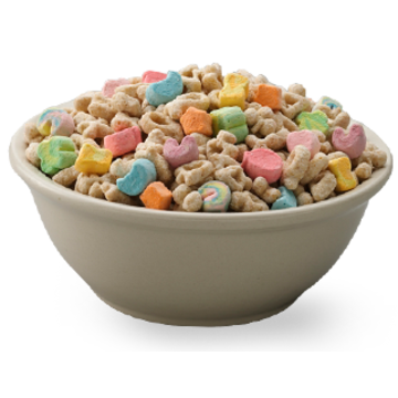 Transparent cereal lucky charm.