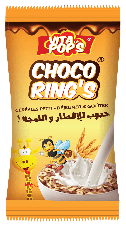 Transparent cereal ring. Choco s snacking halal