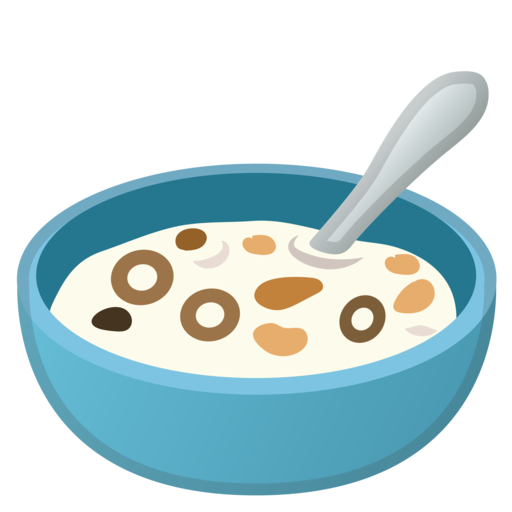 Transparent cereal spoon. Google android oreo