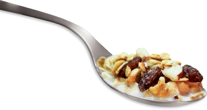 Transparent cereal spoon. What is goh sunny