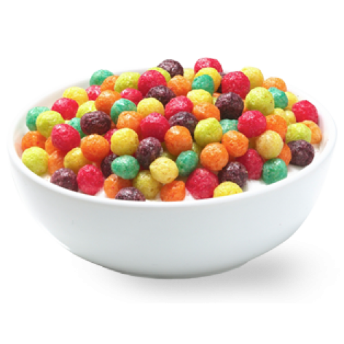 Transparent cereal trix. Silly rabbit ml or