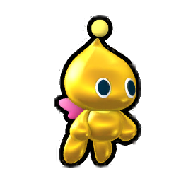 Gold sonic news network. Transparent chao image royalty free stock