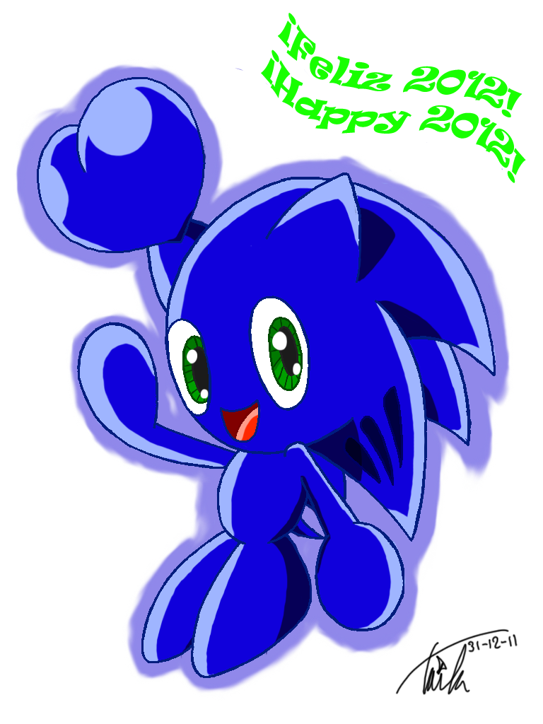 Transparent chao happy. Sonic new year by