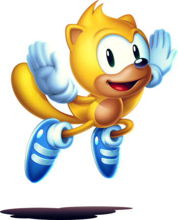Vector squirrel flying. Ray the classic sonic