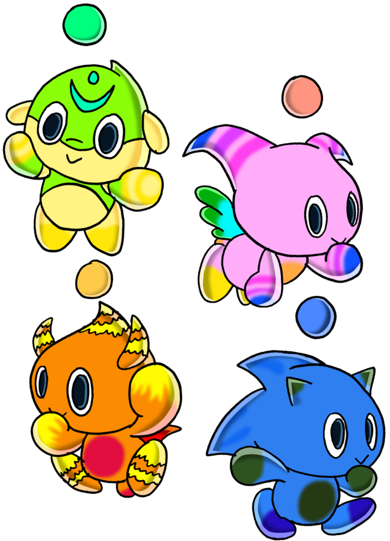 Transparent chao neutral. Swim fly power and