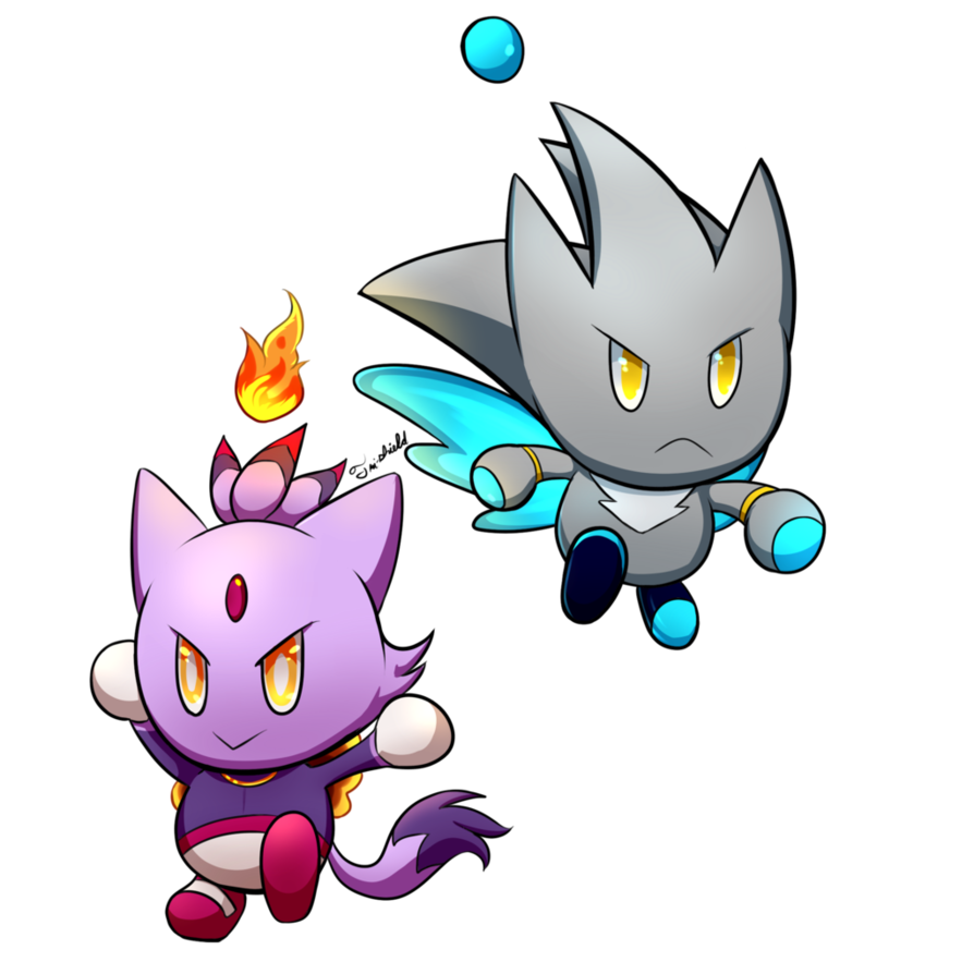 Transparent chao silver. And blaze by tri