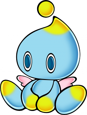 Transparent chao translucent. Sonic retro from