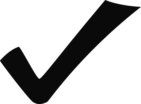 Transparent check cheque. Download mark checkbox drawing