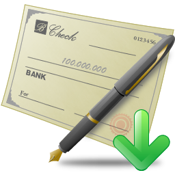 Transparent check cheque. Icon png