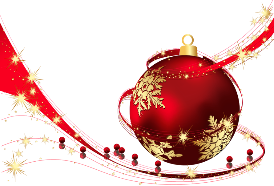 Transparent christmas png. Red ball clipart gallery