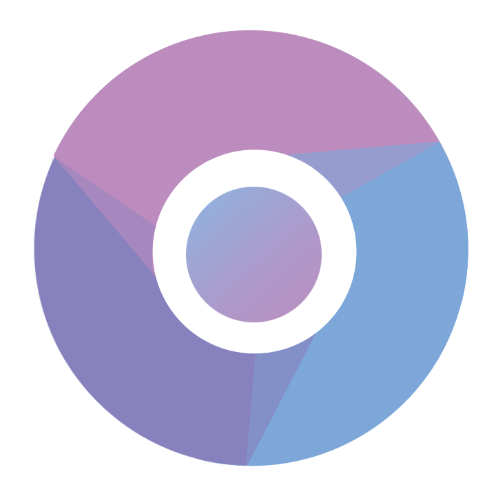 Drawing chrome circle. Redesigned original icon png