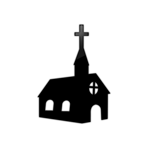 Transparent church black and white. Free png library