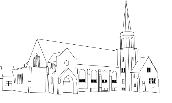 Transparent church medieval. Collection of free curch