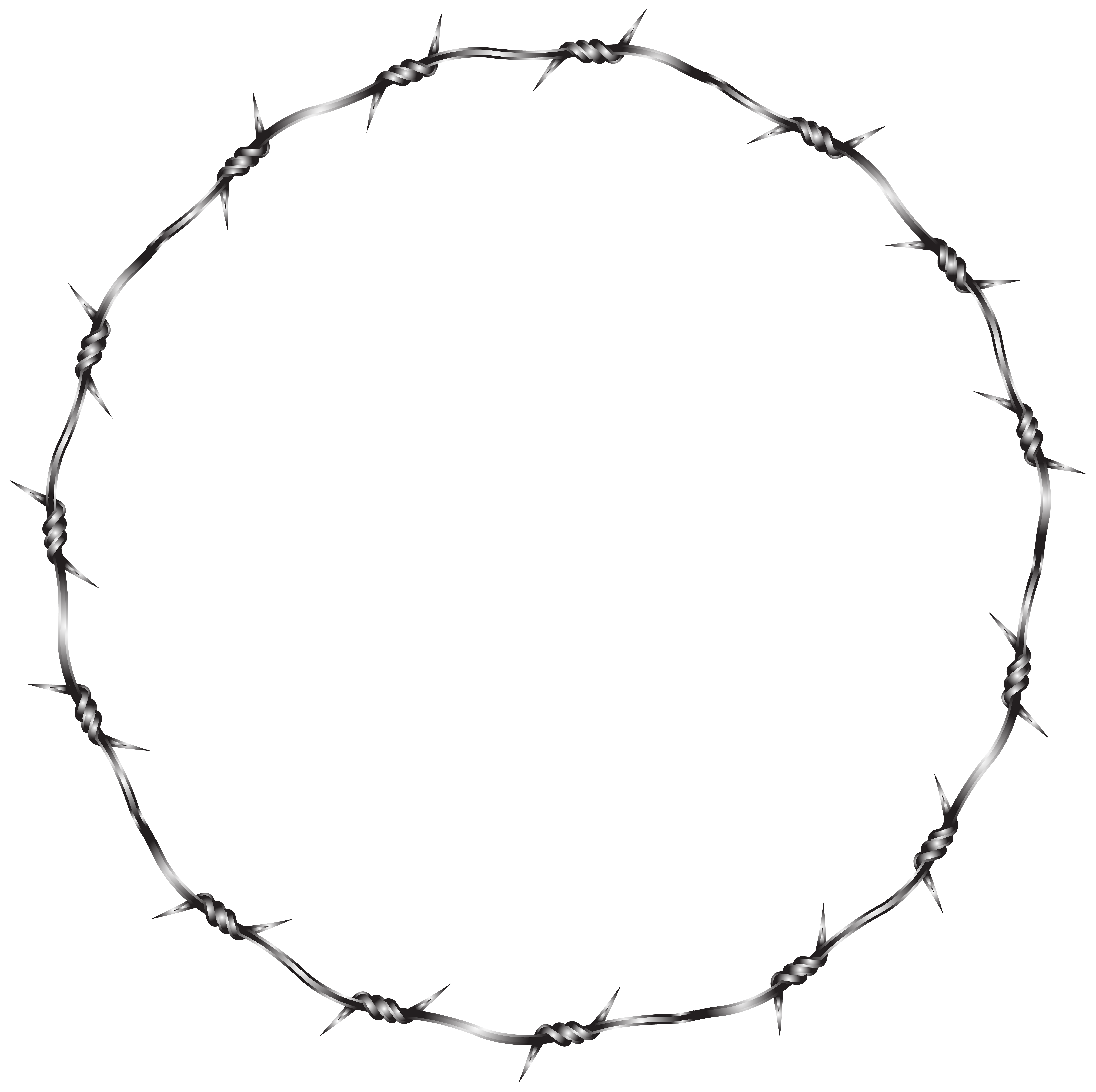 Transparent circle png. Wire round border clip