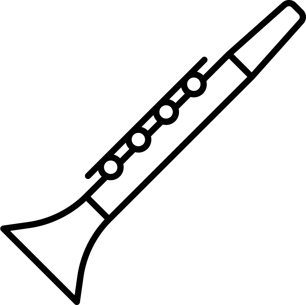 Transparent clarinet svg. Vector library stock