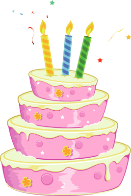 cake with 2 candles png