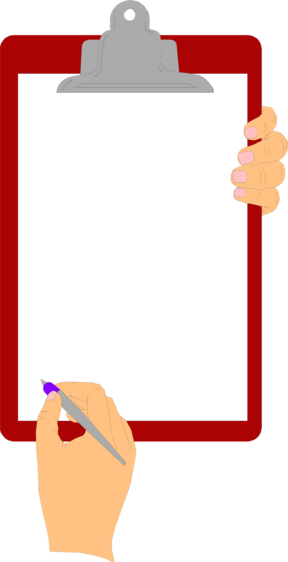 Transparent clipboard blank. Free stock photo illustration