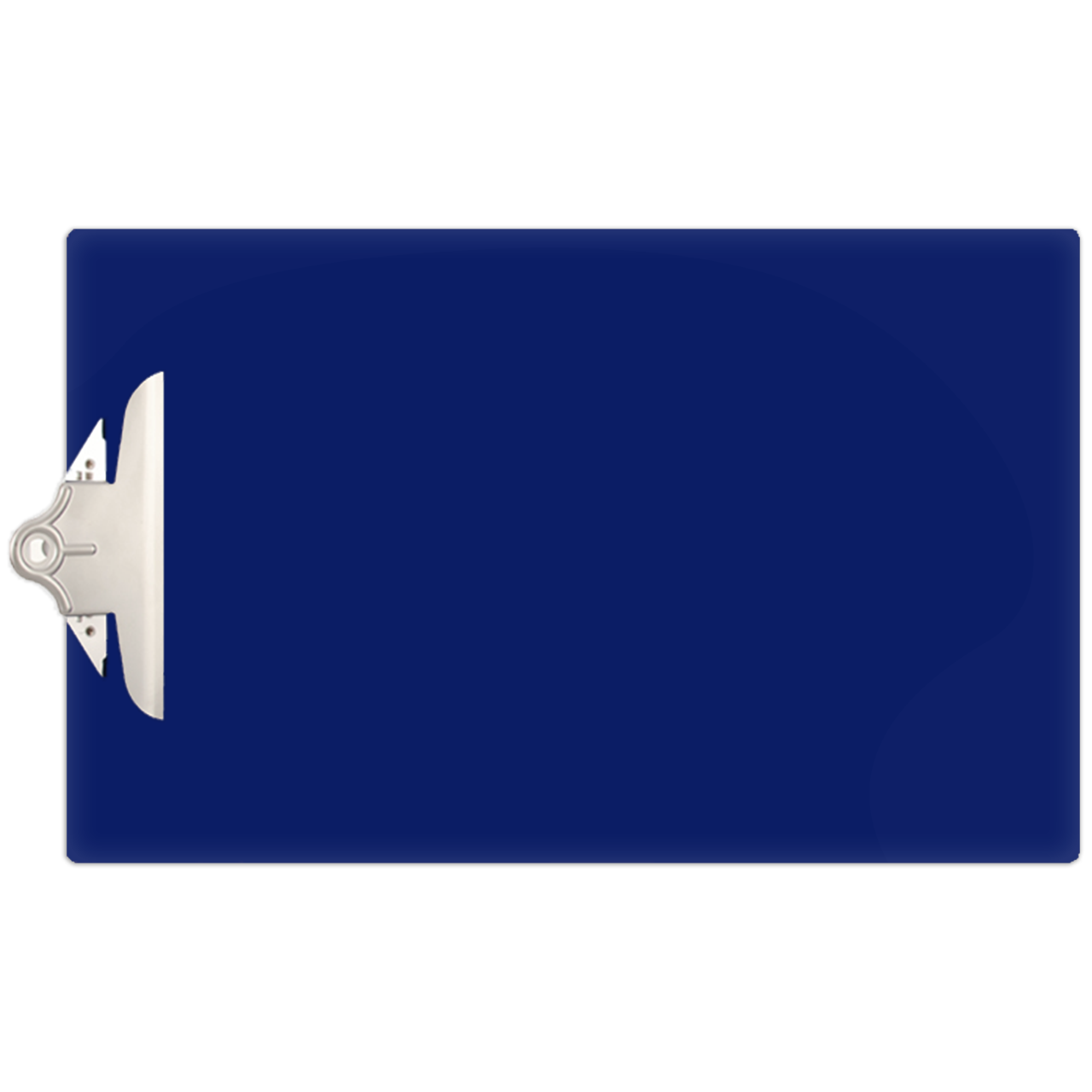 Transparent clipboard blue. X acrylic with