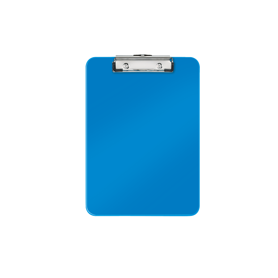 Transparent clipboard blue. With plastic clip wholesale