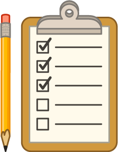 Transparent clipboard checklist. Use our moving day