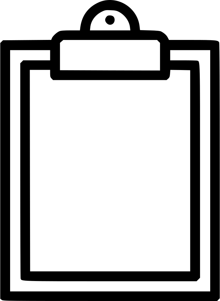 Transparent clipboard clip board. Buffer svg png icon
