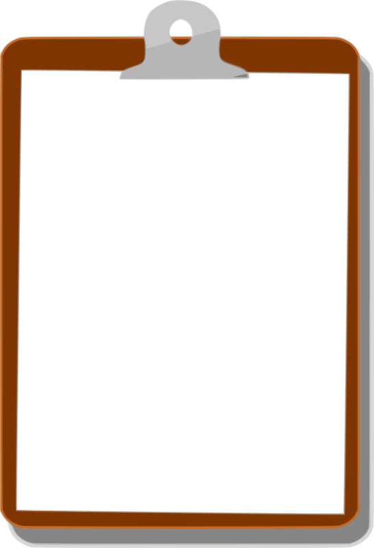 Transparent clipboard clip board. Collection of free boards