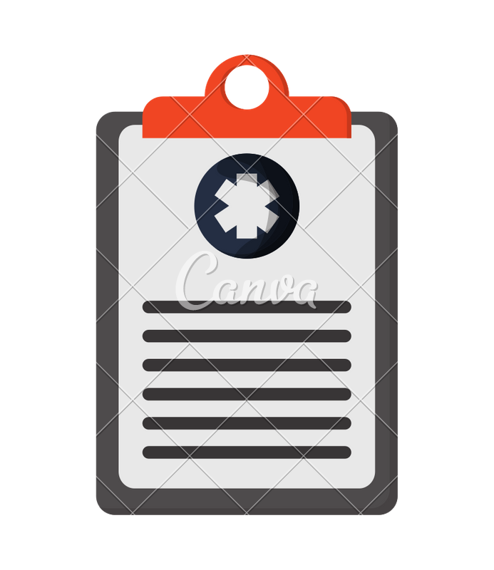 Transparent clipboard medical. Icons by canva