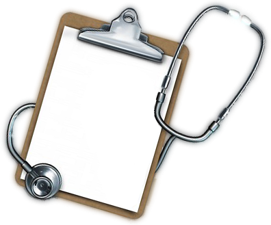 Transparent clipboard medical. Black and white download