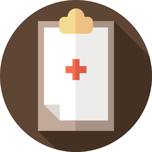 Transparent clipboard medical. Clinic history healthcare and