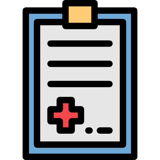 Transparent clipboard medical. Healthcare and doctor history