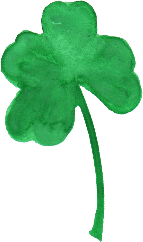 Transparent clover. Watercolor png onlygfx