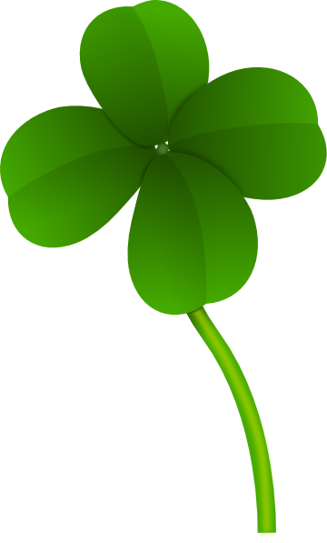 Transparent clover background. Collection of free clivers