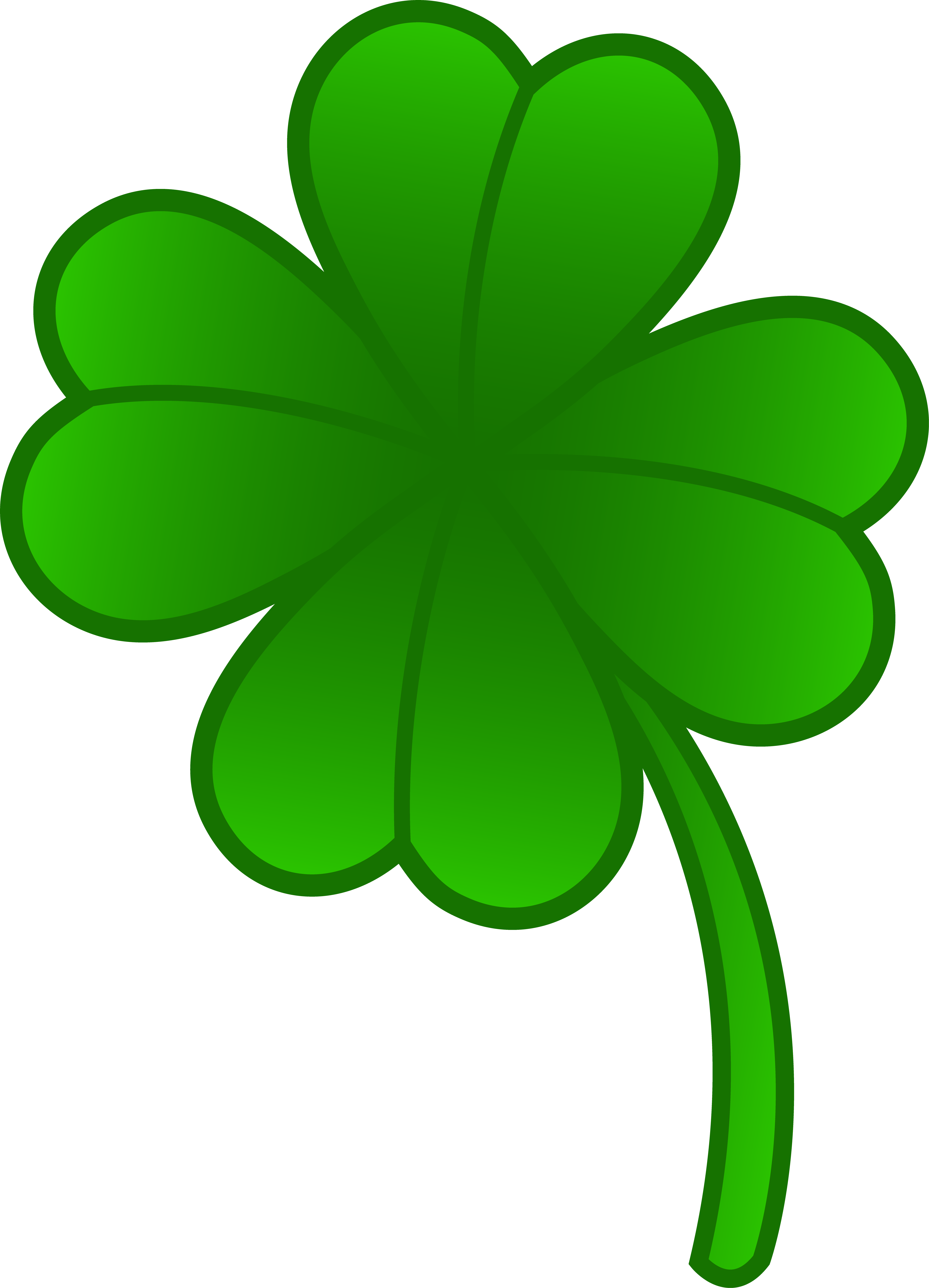 Collection of free clivers. Irish clipart four leaf clover clipart black and white library