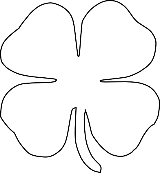 Transparent clover cut out. Collection of free clivers