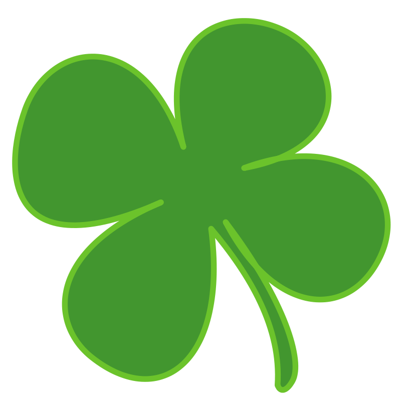 Transparent clover four leaf. Free stock photo illustration