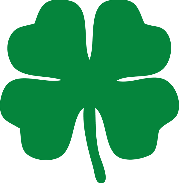 Vector clover notre dame. Transparent outline pictures