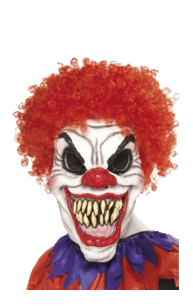 Transparent clown. Scary halloween png stickpng
