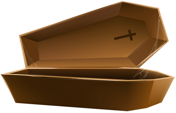 Transparent coffin animated. Open brown png clip