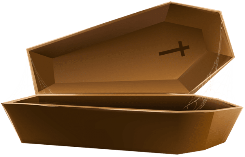 Transparent coffin wood. Download open brown png