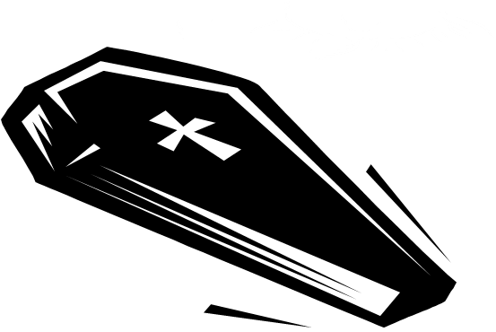 Transparent coffin black and white. Open clipart huge