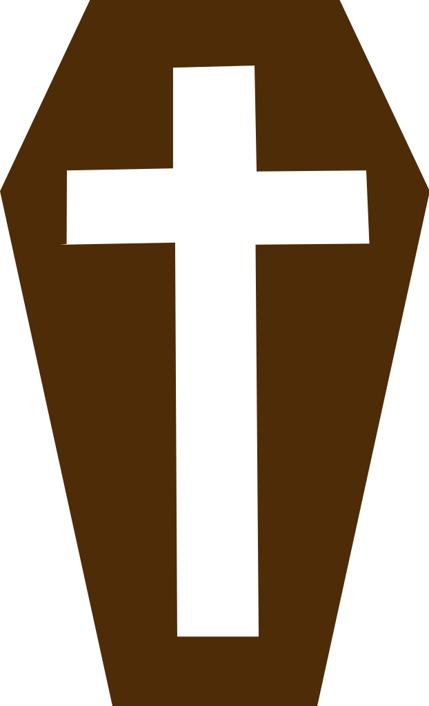 Transparent coffin brown. File svg wikimedia commons